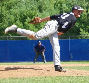 Alex Pechin turned in a strong, complete game performance, but was outdueled by Garcia, as the KAU Kings lost in the championship game of the Senior League World Series 2-1, Saturday. Tony Consiglio photo.
