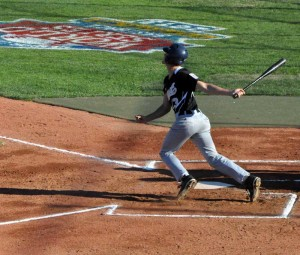 East's Drew Jarmuz powered the offense going 4-for-4 with three runs scored, the KAU Kings dominated an Italian team, 11-1, in the Senior Little League World Series, Tuesday.