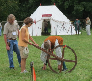 A variety of surveying equipment was on display at .