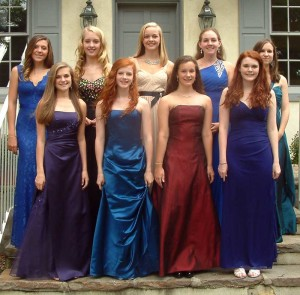 Back row left to right: Aubrey McLaughlin (P), Carly Rechenberg (Q), Taylor Thornton (P), Jackie Choffo(Q), Catherine Stookey(Q), Front  row left to right: Sarah Taylor (P), Mia Maufort (P), Helen Nichols (P), Shannon White (P)