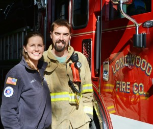 Adam and Janell Cressman are urging area residents to join the Longwood Fire Company, where they found romance and fulfillment.