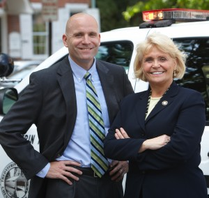 "Chester County Sheriff Carolyn ""Bunny"" Welsh (right) is teaming with Chester County District Attorney Tom Hogan to offer citizens a firearms safety course."
