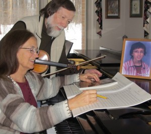 Donna and Martin Beech prepare for the Seventh Annual Jonathan Beech Memorial Concert, which will be held at Kennett High on Saturday.