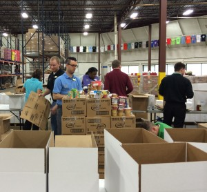 The Chester County Food Bank was the site of a massive, high-energy assembly line as  more than 30 volunteers sorted a giant food donation from Wegmans.