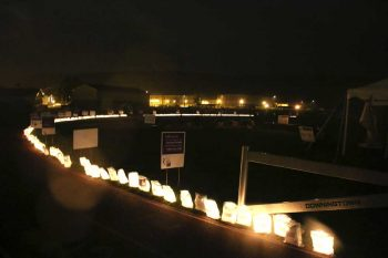 Starting at 9 p.m. relay teams walked by candlelight, with each luminary honor 1 person and their fight against cancer.