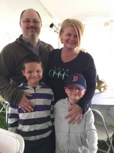 """""""I have too much to fight for,"""" said Kim Mehler, who is battling cancer, with her husband Rob and sons William and Samuel."""