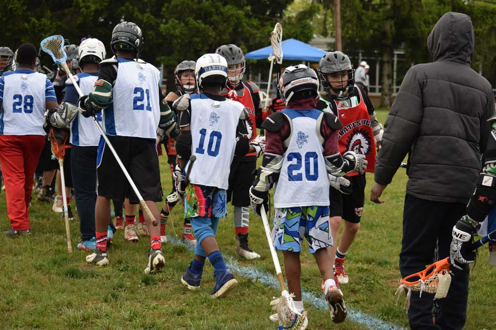 Coatesville Youth Lacrosse hosted the first Red Raider Rumble tournament that included teams from Coatesville, Avon Grove, Collegeville, Lionville, Conastoga, West Chester, Unionville, Delaware, New Jersey and Harlem, New York. Credit: Stacy Geyer