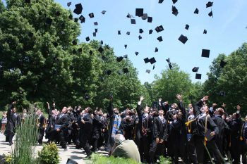 Malvern Prep 2016 graduates celebrate during this week's commencement ceremony.