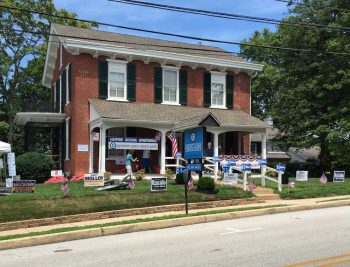 The new Kennett Area Democrats' campaign office on East Linden Street in Kennett Square.
