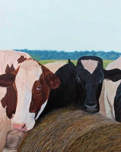 Two Cows by Kimberly English, as seen at Mala Galleria.