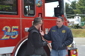 A.J. McCarty (right) will become the full time Chief of the Longwood Fire Company by the end of the year.